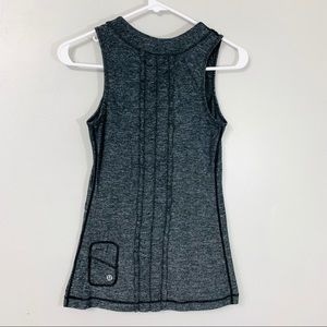 Lululemon Run Dash Tank II Heathered Black Tank
